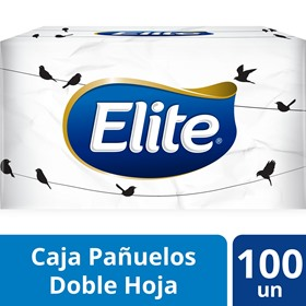 Picture of ELITE PAÑUELOS FACIAL CAJA DOBLE HOJA [100 uni.]